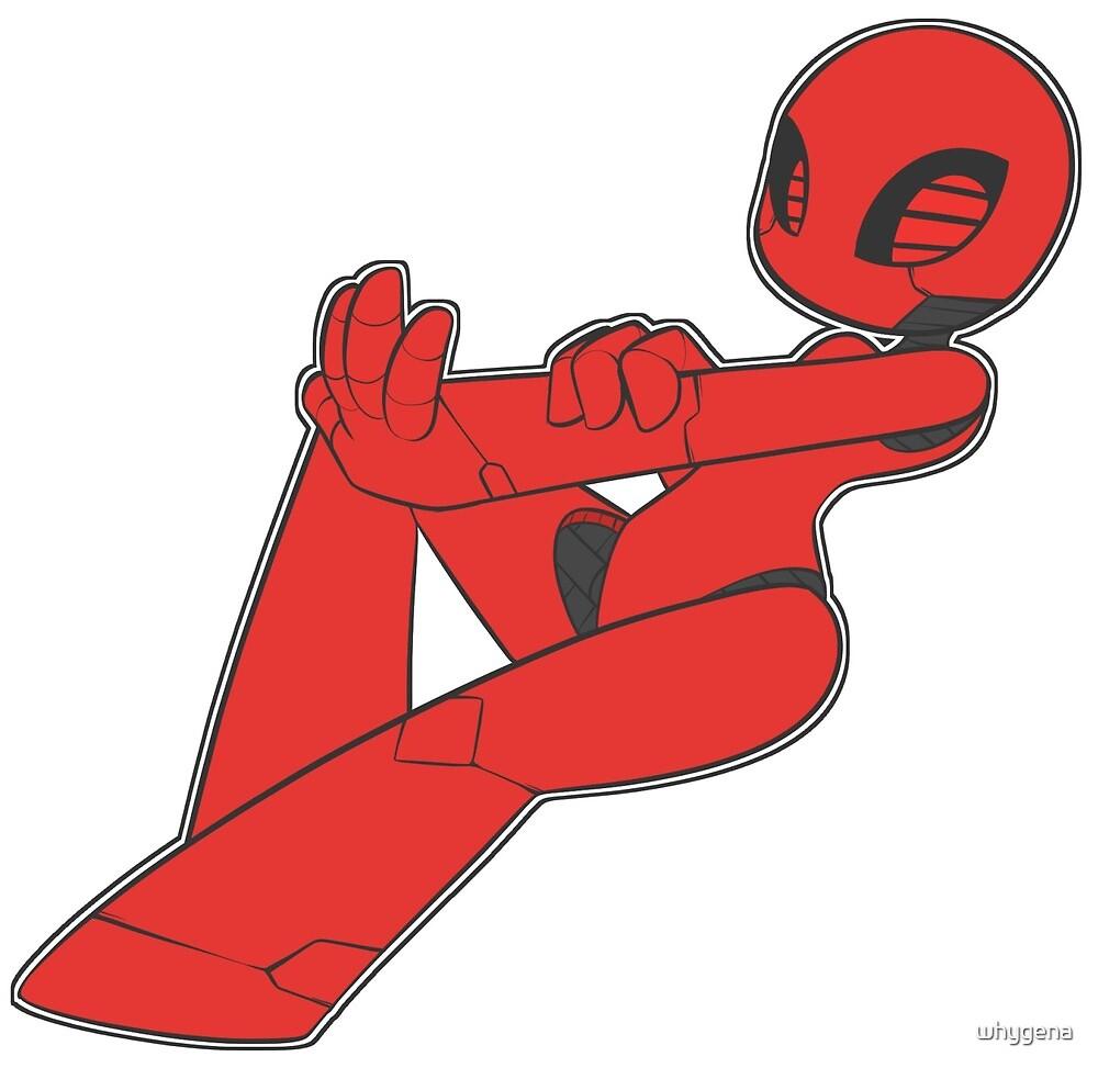 Niedlicher Roter Bot Von Whygena Redbubble