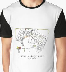 An Alien and his Drum Machine Graphic T-Shirt