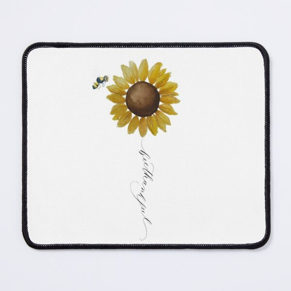 Bee Thankful Watercolor Art Mouse Pad