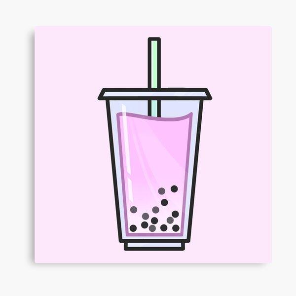 Strawberry Bubble Tea Canvas Print