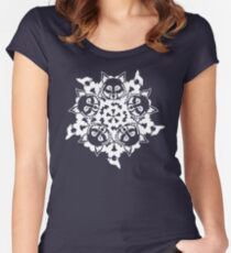 Wolf ZOOFLAKE Women's Fitted Scoop T-Shirt