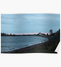 Grand Marais Coast Guard Station at Dusk Poster