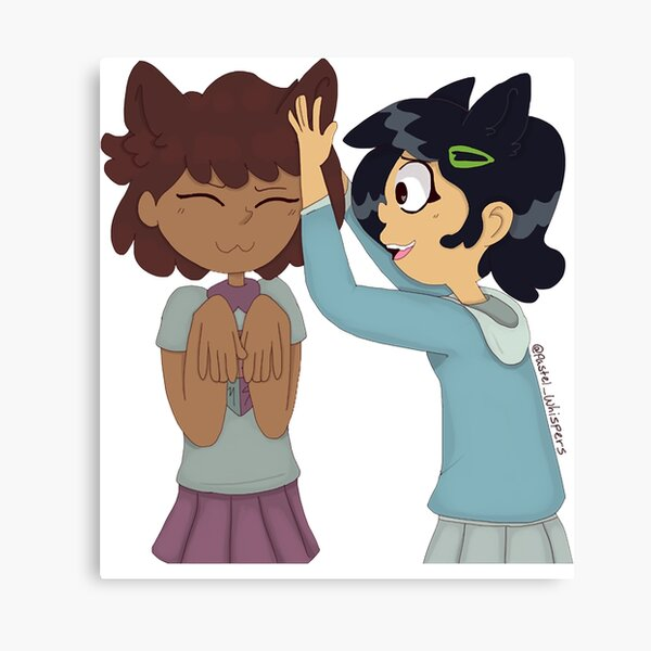 Cat Girl GFs Fantasy world Amphibia The Meaning Of Friendship Canvas Print