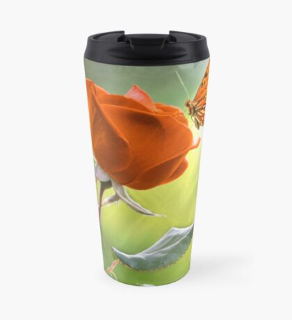 The Flower and the Butterfly Travel Mug