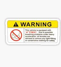VTEC Warning Sticker, T-shirt, Phone Case Sticker