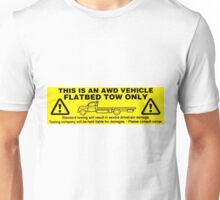 Flatbed Tow Only!! Subaru AWD Unisex T-Shirt