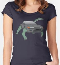 R32 Godzilla Transformer-looking-thing Women's Fitted Scoop T-Shirt