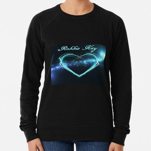 Neon blue heart Robbie Kay Lightweight Sweatshirt