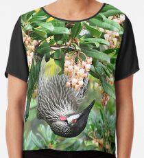 Red Wattle Bird Chiffon Top