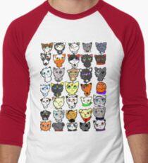 The many faces of Acorn Men's Baseball ¾ T-Shirt