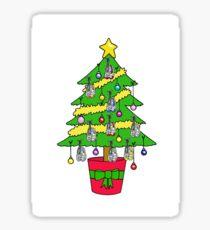 Christmas tree for runners. Sticker