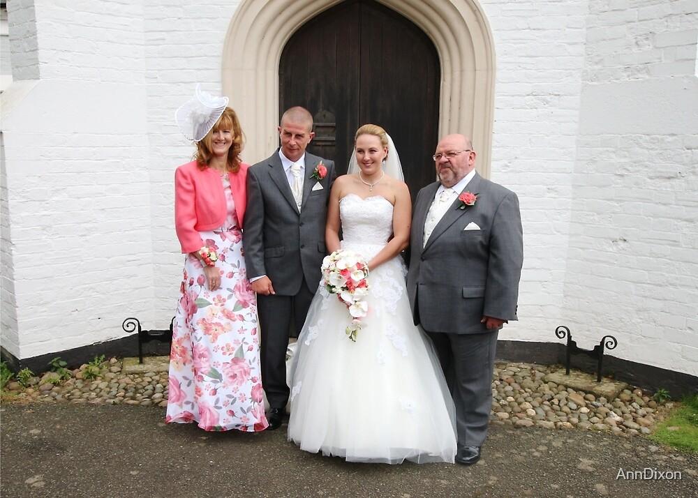 Maria & Gareth with Maria's Parents by AnnDixon