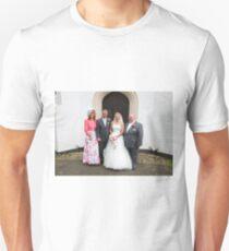 Maria & Gareth with Maria's Parents Unisex T-Shirt