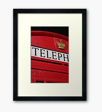 london red phone booth Framed Print
