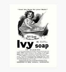 1894 Ivy Soap Advertisement Art Print