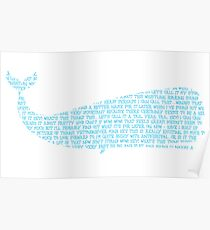 A very surprised looking whale Poster