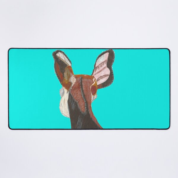 Okapi with Transparent Background Desk Mat
