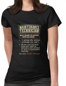 Maintenance Technician Funny Dictionary Term Womens Fitted T-Shirt