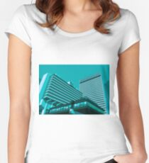 Piccadilly Plaza, Manchester Women's Fitted Scoop T-Shirt