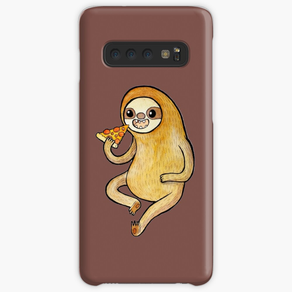 Sloth Eating Pizza Case & Skin for Samsung Galaxy