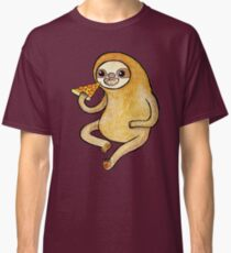 Sloth Eating Pizza Classic T-Shirt