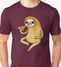 Sloth Eating Pizza T-Shirt