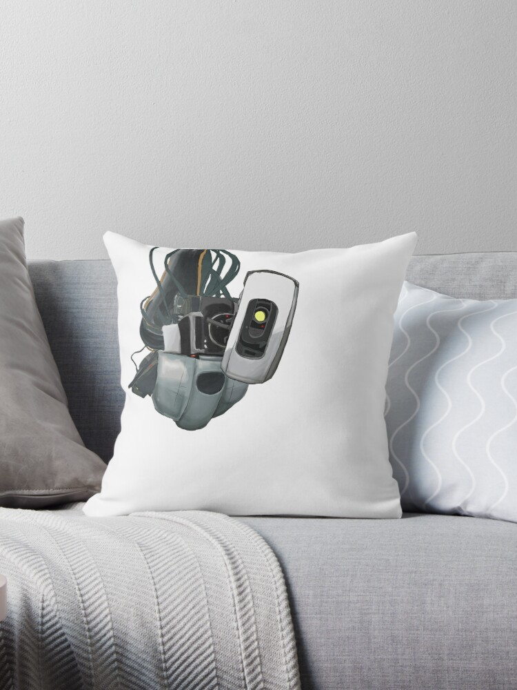 Glados Portal 1 And 2 Throw Pillow By Emlosin