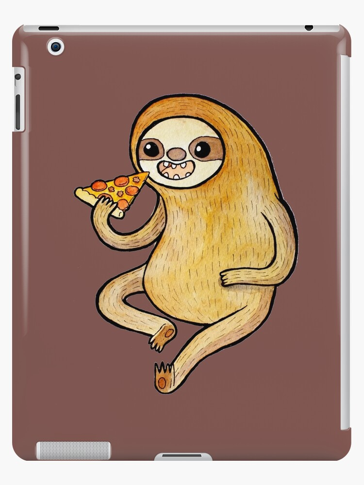 Sloth eating pizza