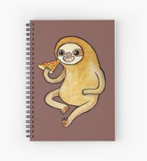 Sloth Eating Pizza Spiral Notebook
