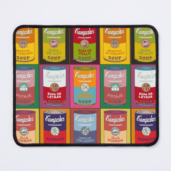 Spanish Andy Warhol soups - Sopas Campestre (with colors) Mouse Pad