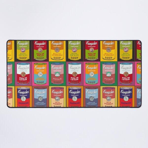 Spanish Andy Warhol soups - Sopas Campestre (with colors) Desk Mat