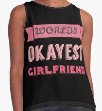 Worlds okayest girlfriend - black Contrast Tank