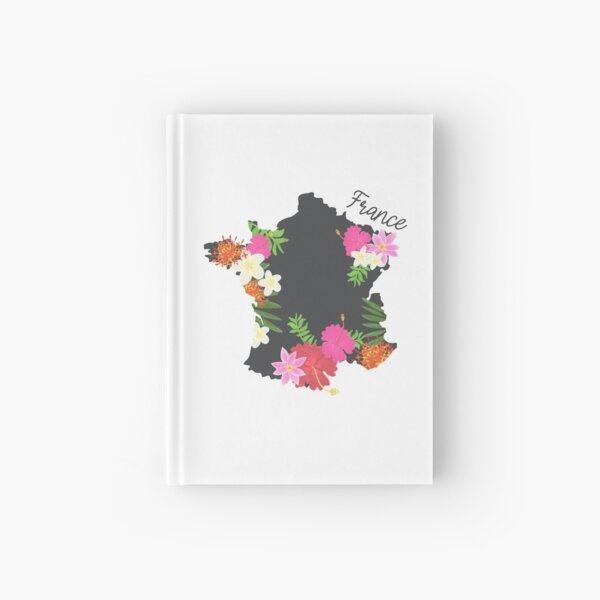 Map of France, decorative map Art print  Hardcover Journal