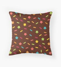 Choclate and Sprinkles  Throw Pillow