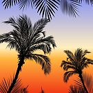 Black silhouette palm by Lusy Rozumna