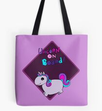 Unicorn on board ! Tote Bag