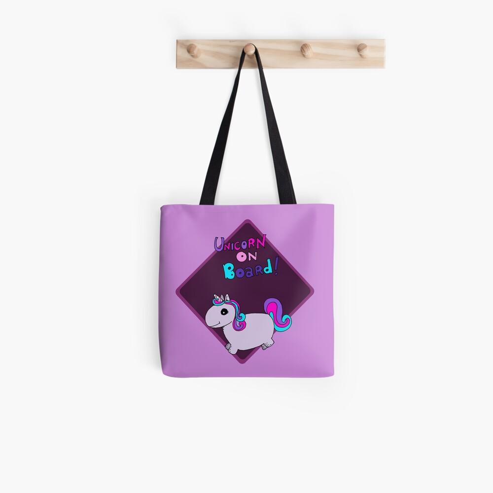 Unicorn on board ! Tote Bag