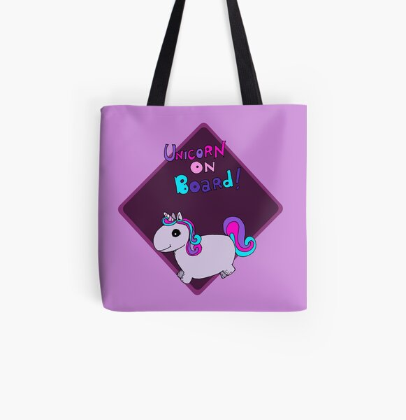 Unicorn on board ! All Over Print Tote Bag