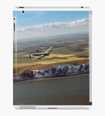 Lancaster over the white cliffs in Kent iPad Case/Skin