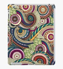 Abstract doodle floral pattern iPad Case/Skin