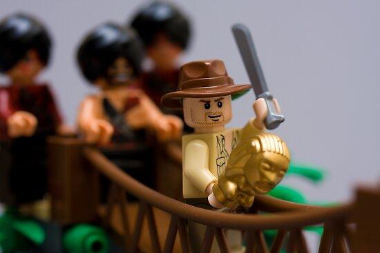 Lego Indy on the rope bridge by Kevin  Poulton - aka 'Sad Old Biker'