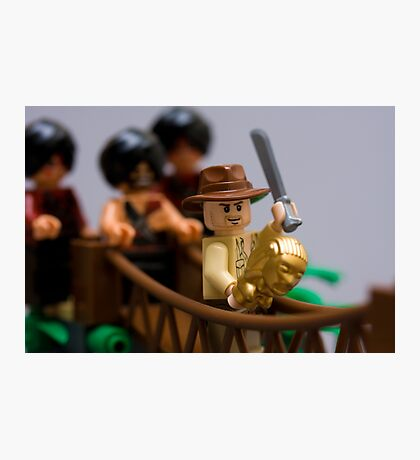 Lego Indy on the rope bridge Photographic Print