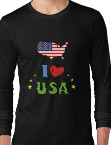 I love the united states of america Long Sleeve T-Shirt