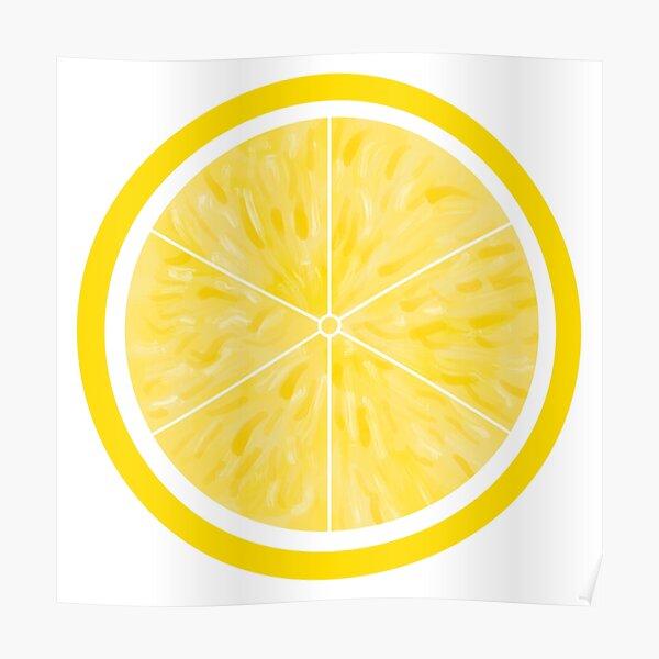 Lemon print | lemon sticker | fruit patterns | colourful fruit prints | vegan prints Poster