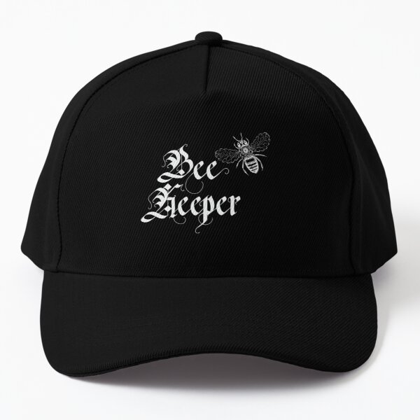 Bee Keeper Blackletter with Sketched Bee Baseball Cap