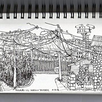 Nogales AZ- U.S.-Mexican border by JamesLHamilton
