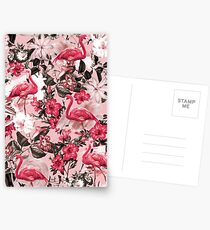 Flamingo and Floral III Postcards