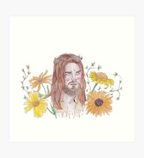 JESUS TWD WATERCOLOUR FLOWER PRINT Art Print