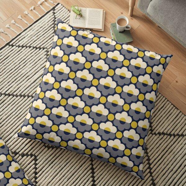 abstract retro floral kiely design Floor Pillow