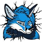 Sticker - STUCK Blue Fox by tanidareal